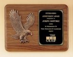 Walnut Plaque with Bronzed Eagle - Landscape All Award Plaques