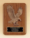 Walnut Plaque with Bronzed Eagle - Portrait All Award Plaques