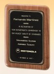 Precision Walnut Elliptical Rounded Leaf All Award Plaques
