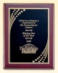 Rosewood Award Plaque Star Shower All Award Plaques