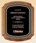 Walnut Double Arch Black Florentine Texture All Award Plaques