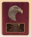 Rosewood Piano Finish Plaque with Bronzed Eagle All Award Plaques
