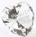 Clear Crystal Heart Clear Optical Crystal Awards