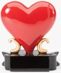 Red Heart Resin Award Heart Awards