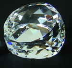 Faceted Dome Crystal Paperweight Paperweights