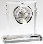 Corporate Crystal Clock Square Rectangle Awards
